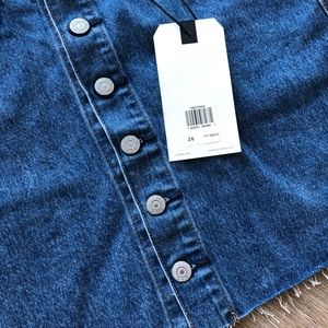 Levi's Skirts - NWT Levi's denim button front raw hem denim skirt
